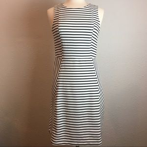 LOFT black & white striped sleeveless dress